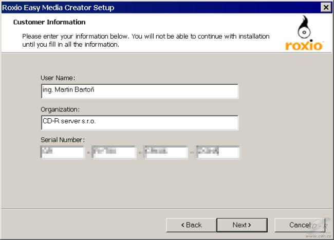 Sonic Roxio Easy Media Creator 10 Suite - Co si přineste, instalace | Diit.cz