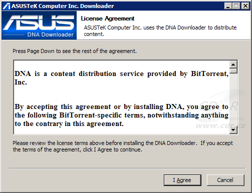 ASUS DNA Downloader - EULA