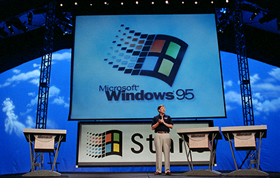 Bill Gates uvádí Windows 95