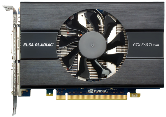 ELSA Gladiac GeForce GTX 560 Ti mini - front