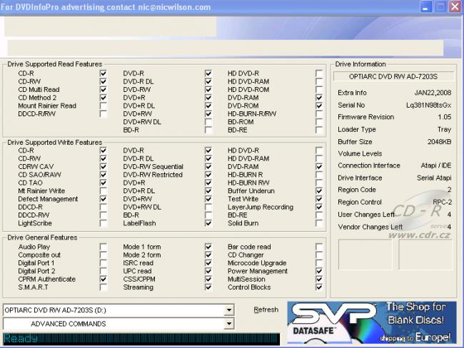 DVDInfoPro - Программа предоставляет пользователю исчерпывающую информацию