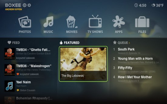 Boxee TV software
