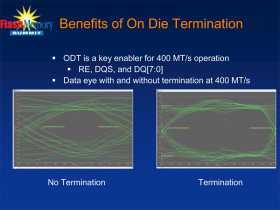 ONFi 3.0 - Benefits of On Die Termination