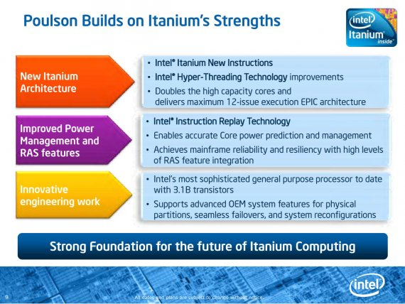 """Poulson"" Prezentace (9) - Poulson Builds on Itanium´s Strengths"