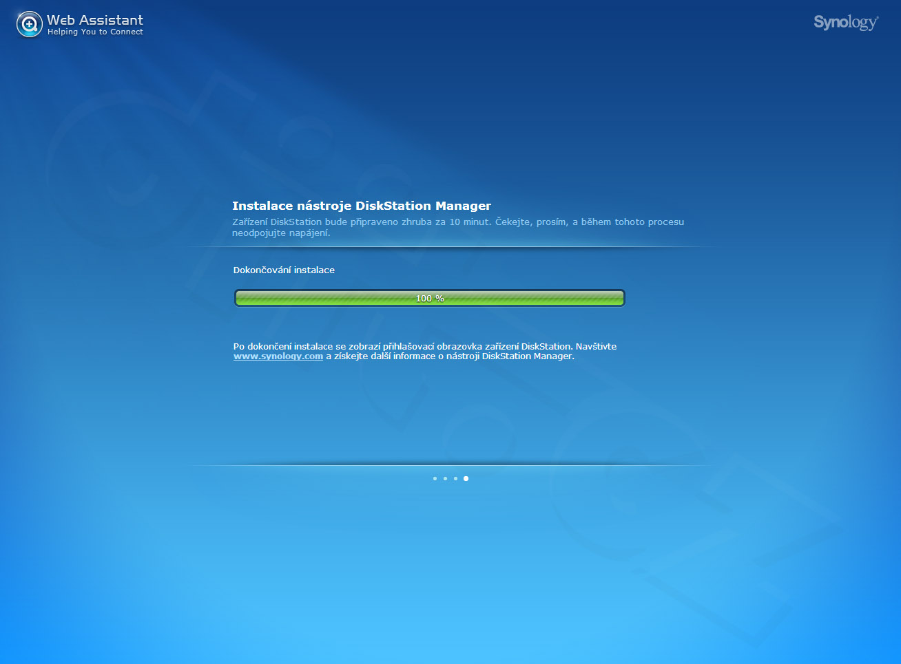 Synology web assistant