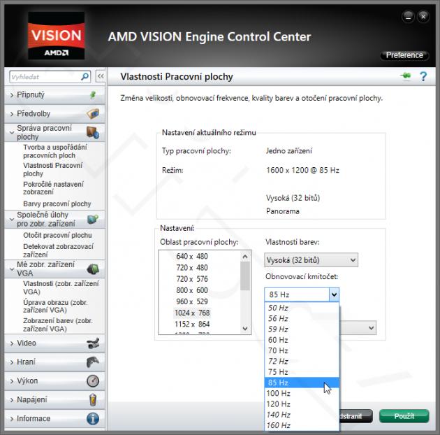 Umí Radeon HD na CRT monitoru nastavit víc než 60 Hz? | Diit cz