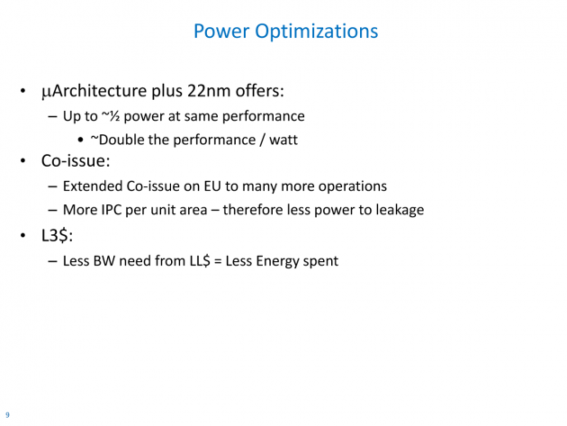 Ivy Bridge - Power Optimizations