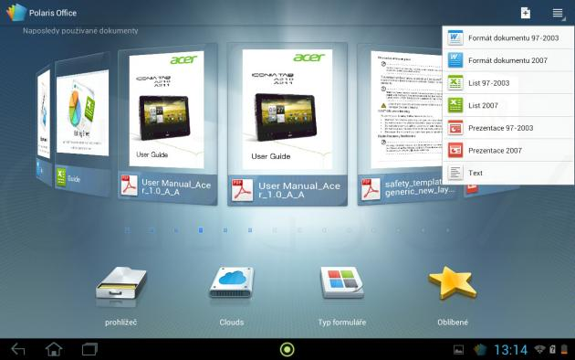 Acer Iconia Tab A211 - Polaris Office