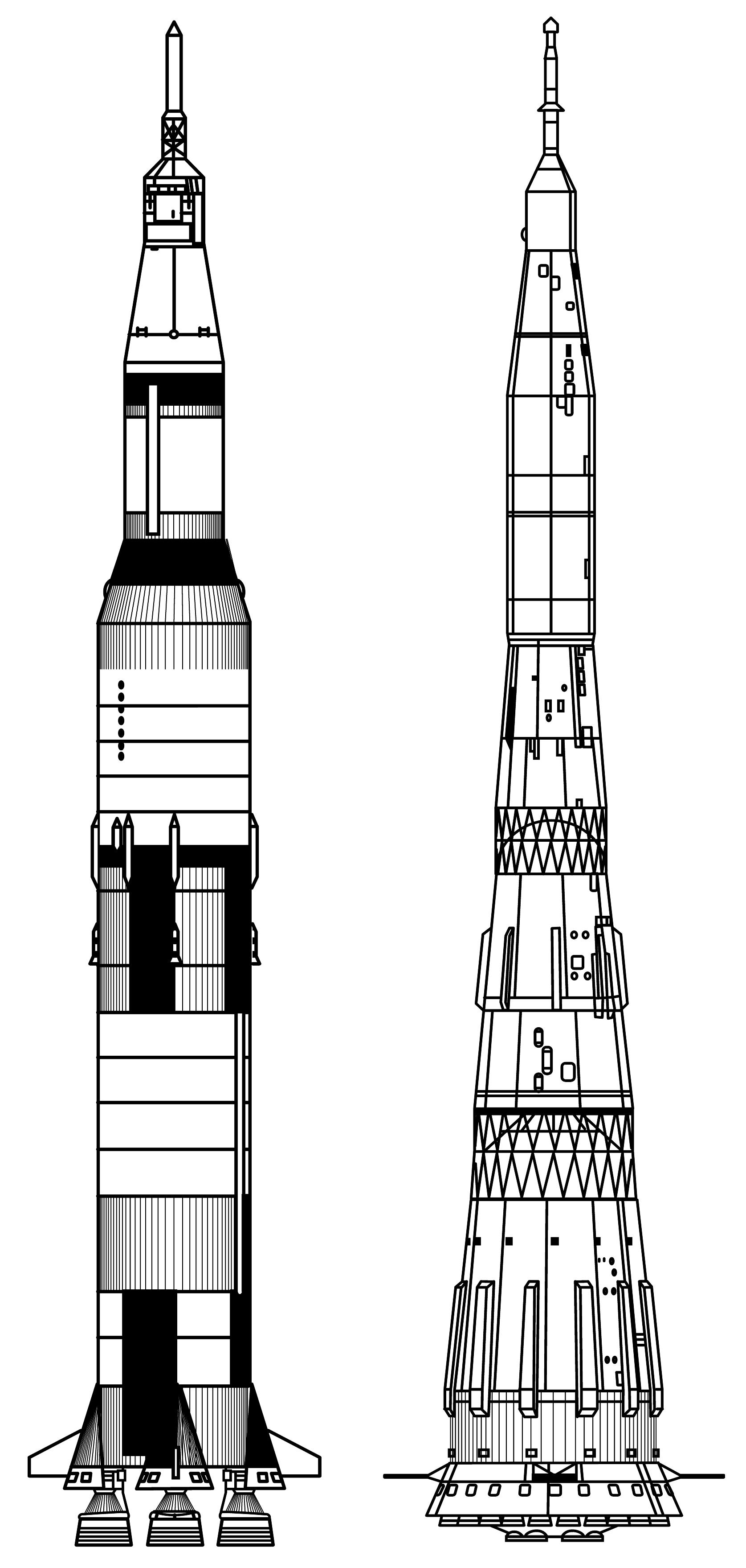 Apollo Rocket Drawing Saturn v Rocket Drawing Click
