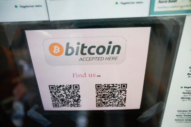 bitcoin accepted sticker