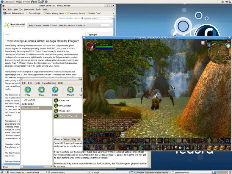 World of Warcraft v Cedega