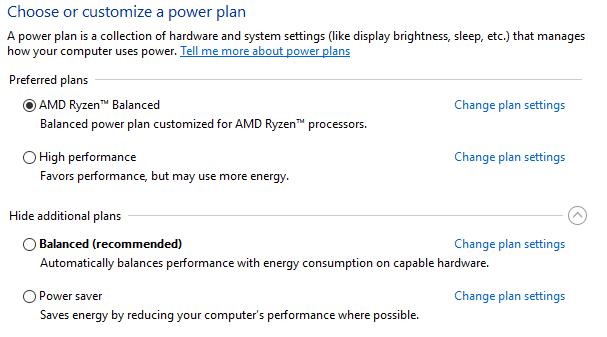 Amd Ryzen Balanced Power Plan