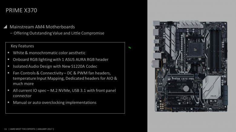 Asus Am 4 Motherboards Prime X 370