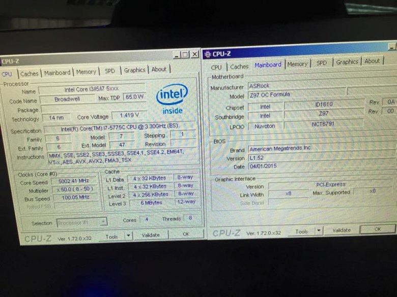 Broadwell Core I 7 5775 C 5 Ghz Oc 01