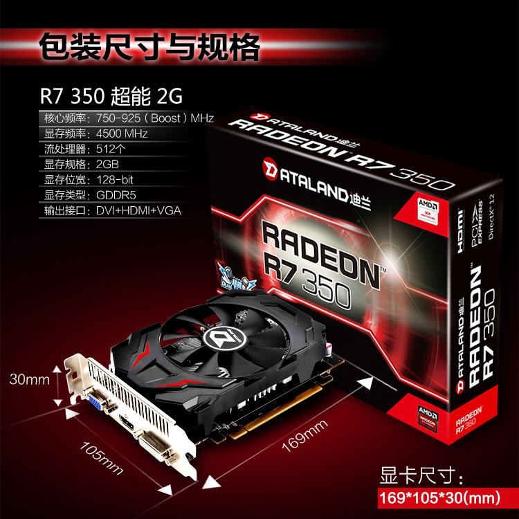 Dataland Radeon R 7 350 Graphics Card 5