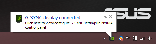 G Sync Driver Pop Up