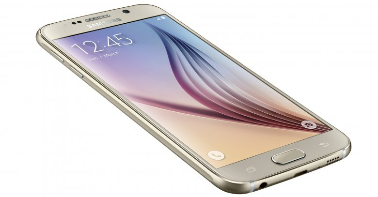 Galaxy S 6 Left Front Dynamic Gold Platinum