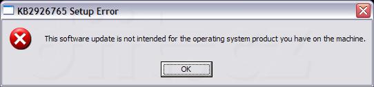Kb 2926765 Setup Error