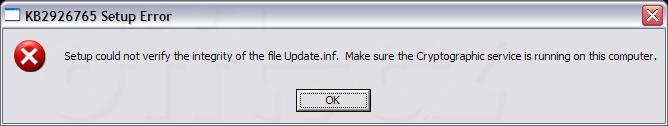 Kb 2926765 Setup Error Update