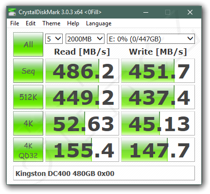 Kingston Dc 400 480 Gb Crystaldiskmark 0 Fill