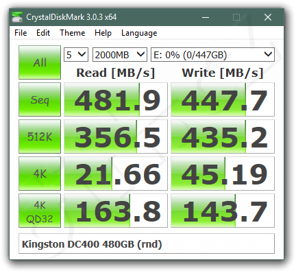 Kingston Dc 400 480 Gb Crystaldiskmark Random