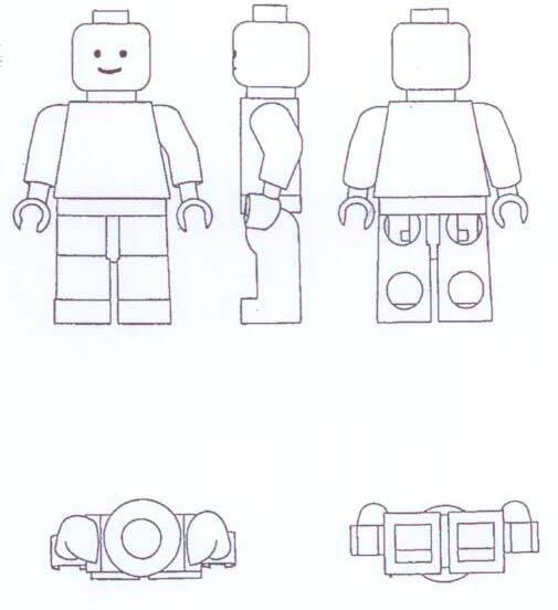 LEGO panáček - nákres z Usnesení Městského soudu