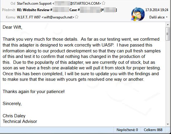 Mail Od Startech 2