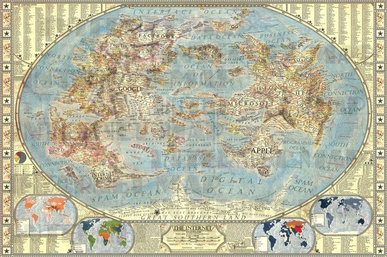 První starodávnou mapu internetu vytvořil slovenský student