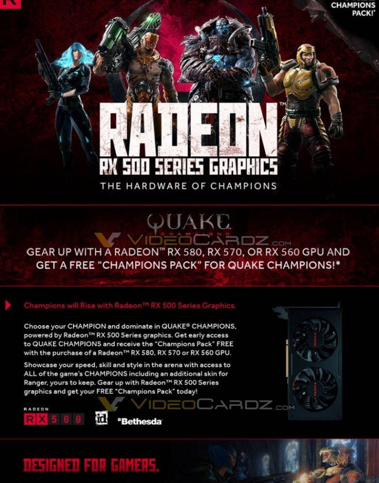 Quake Champions Radeon Rx 500