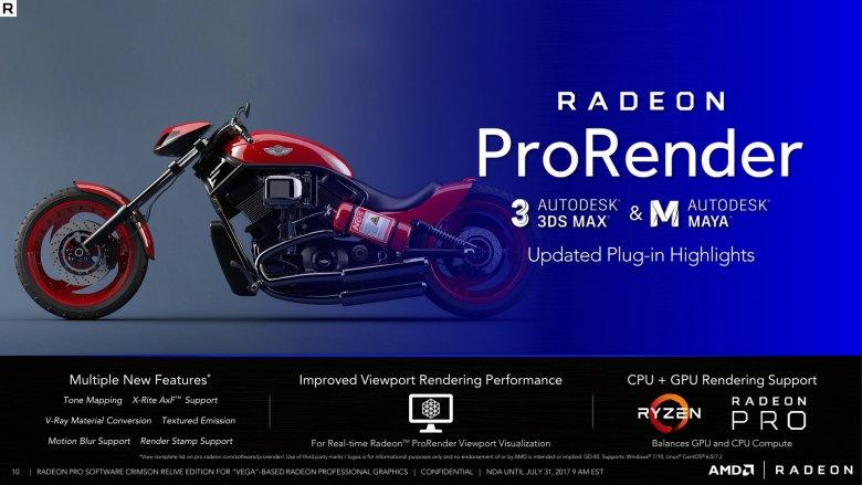 Radeon Pro Software Crimson Relive For Vega 10