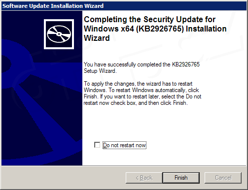 Spesna Instalace Aktualizace Kb 2926765 Do Windows Xp X 64