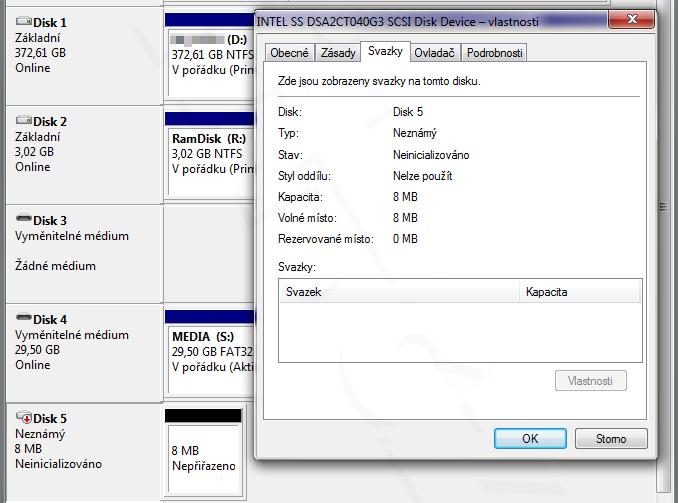 Ssd Intel 320 Series 40 Gb Po Zhuntovani Ma Jen 8 Mib