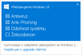 Windows 10 Zelezobeton
