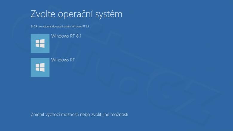 Windows RT - Boot Menu