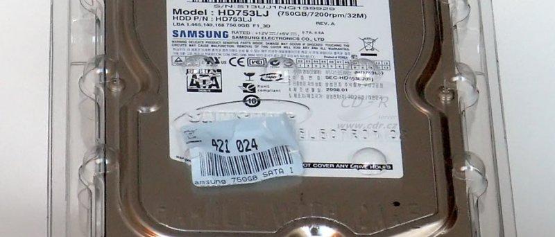 Samsung SpinPoint HD753LJ v originálním balení