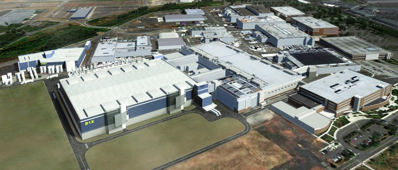 Nákres plánované továrny Intelu D1X v Oregonu