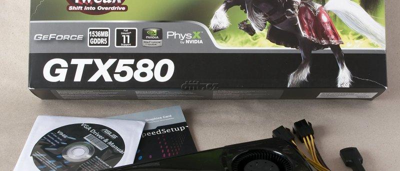 GeForce GTX 580: balení karty Asus