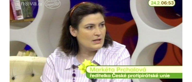 Markéta Prchalová, ředitelka České protipirátské unie (zdroj: http://ulice.nova.cz/clanek/novinky/dusledky-frantova-stahovani-filmu-jeste-prijdou.html, © CET 21, s.r.o.)