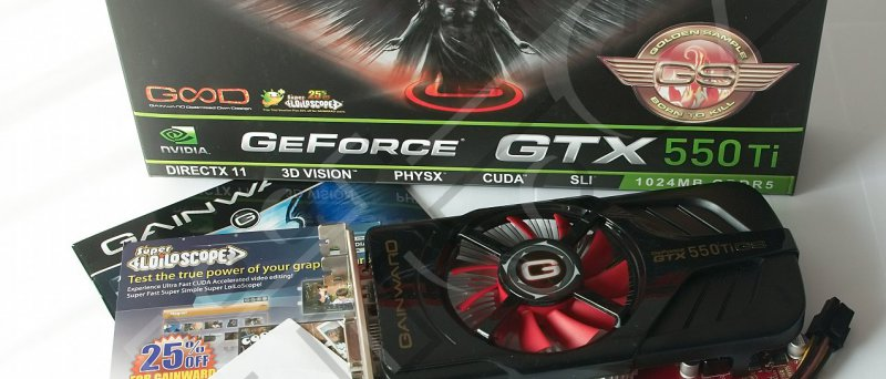Gainward GeForce GTX 550 Ti Golden Sample: obsah balení