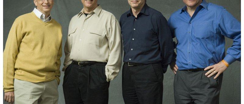 Zleva: Bill Gates, Craig Mundie, Ray Ozzie a Steve Ballmer