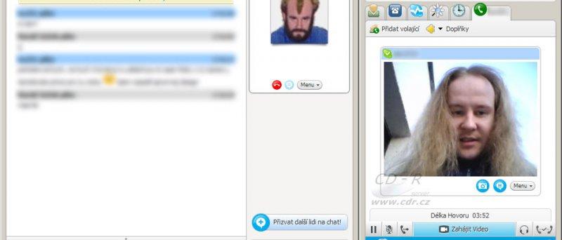 Skype na druhé straně přijímá obraz