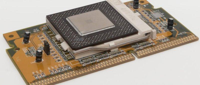 Intel Celeron 366 MHz v PPGA Card redukci