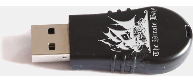 The Pirate Bay logo na flashce