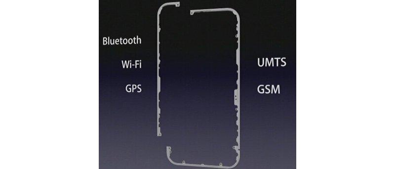 Apple iPhone 4 umístění antén
