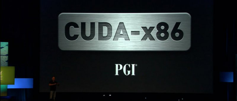GTC 2010: PGI CUDA-x86 logo při prezentaci