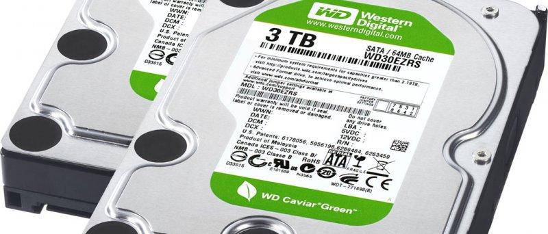 Western Digital 3TB a 2,5TB SATA disk