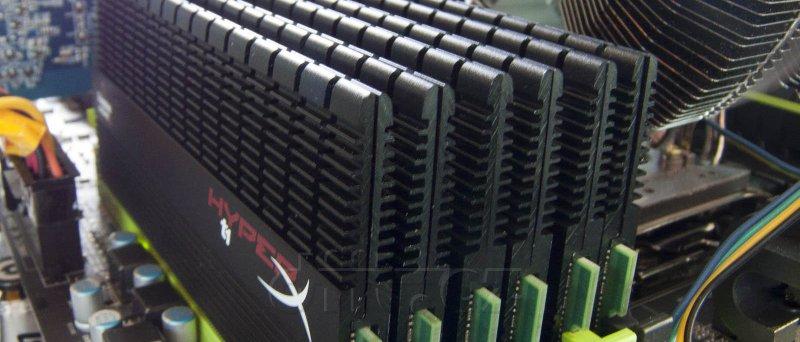 Kingston 24GB HyperX T1B XMP Memory 6×4GB @ 1600 MHz