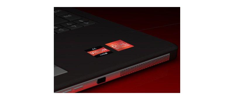 Nové štítky AMD Vision na notebooku