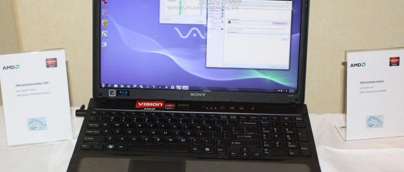 AMD Dynamic Switchable Graphics: Sony Vaio C Series