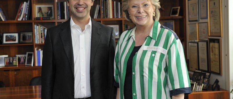 Viviane Reding a Larry Page, jeden ze zakladatelů Google, 17. červen 2009